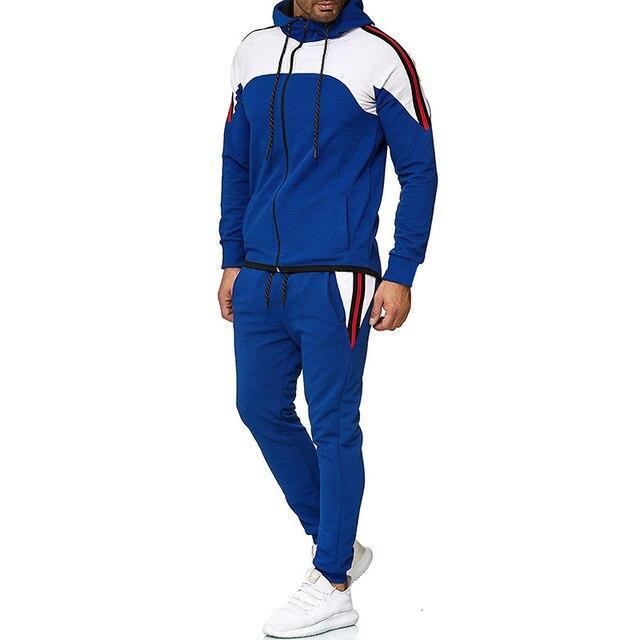 5Xl Two Piece White Men Tracksuits Hoodies Mens Clothing Brand Tracksuit For Men Sports Sets-Men's Sets-BLFXiang Men Store-Navy Blue sets-M-EpicWorldStore.com