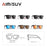 AMISUV Polarized Sunglasses Men Women Classic Rivet Square Frame Sun glasse for Men Driving Vintage Brand Designer Goggles UV400