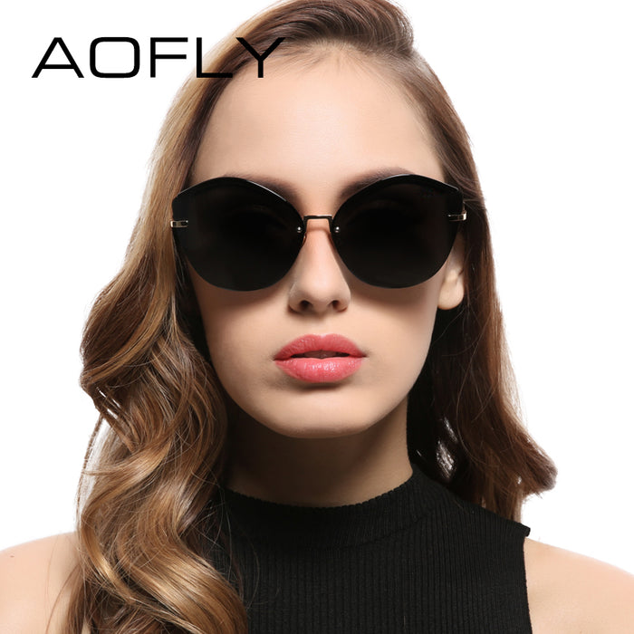AOFLY Fashion Women Cat Eye Sunglasses Original Brand Design Sun Glasses Female Ultralight Glasses Mirror Lens UV400 AF7948