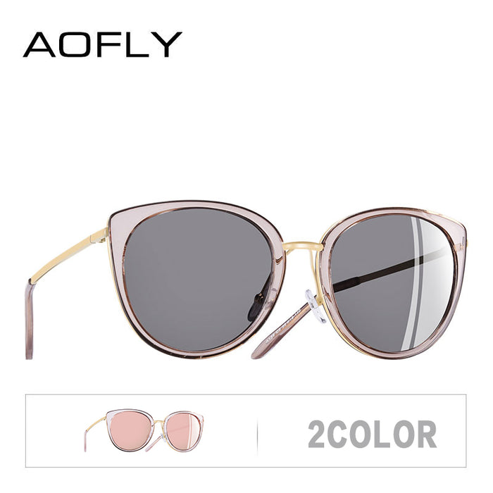 AOFLY BRAND DESIGN Women Sunglasses Vintage Style Metal Frame ladies Polarized Sun glasses Shades Female Eyewear Gafas A139