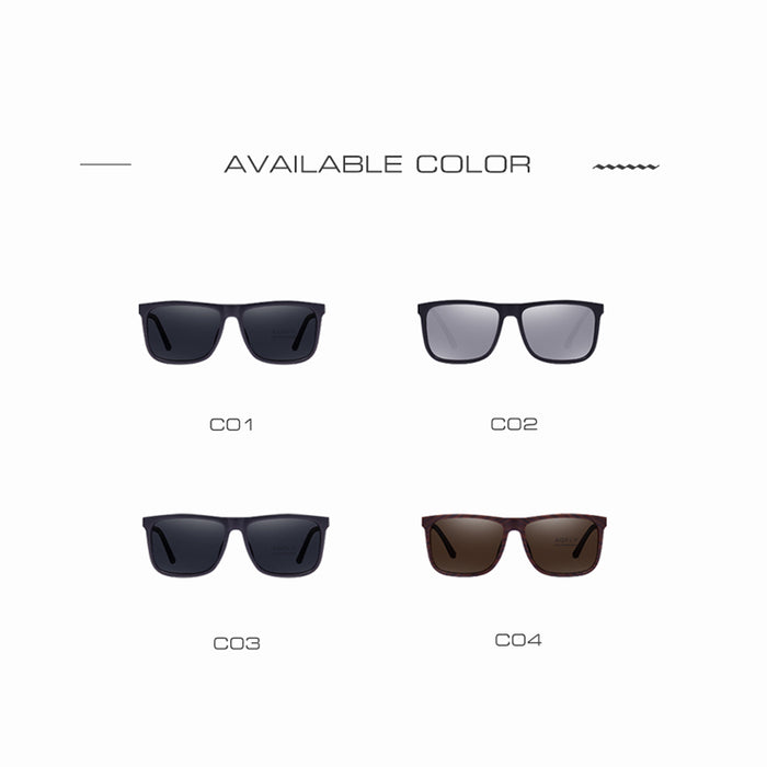 AOFLY Brand Classic Polarized sunglasses Men Driving Square Black Frame Eyewear Male Sun Glasses for men Oculos Gafas AF8027