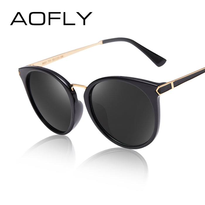 AOFLY Fashion Sunglasses Newest Cat Eye Sun glasses Oval Mirror Eyeglasses Women Famous Brand Designer Outdoor Goggle UV400