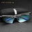 Aluminum Magnesium Rimless Men's Sunglasses Polarized UV400 Sun Glasses Eyewear Accessories For Men Blue Coating Mirror 6587