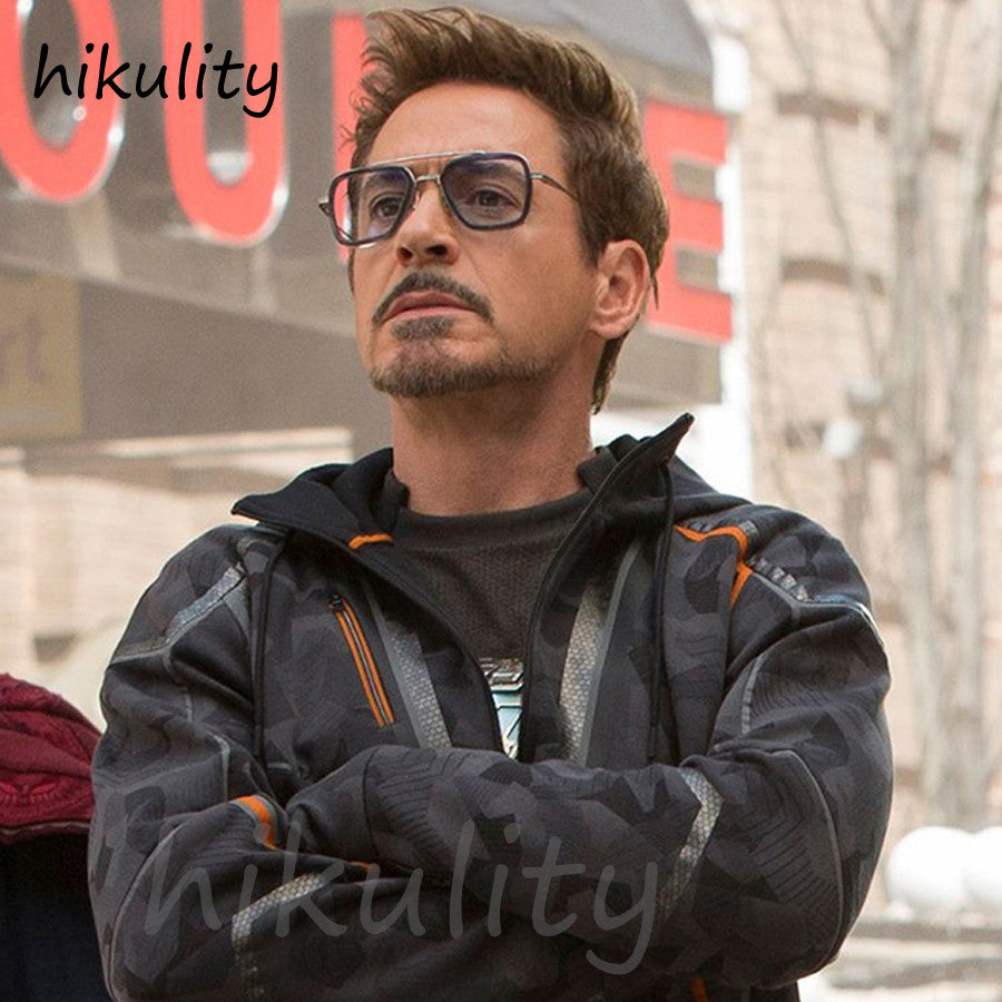 Avengers Infinity War Endgame Tony Stark Sunglasses Luxury Brand Iron Man Glasses Rectangle Vintage Superhero Sun Glasses Clear for Men