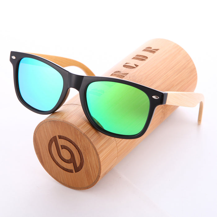BARCUR Wood Sunglasses Spring Hinge Handmade Bamboo Sunglasses Men Wooden Sun glasses Women Polarized Oculos de sol masculino