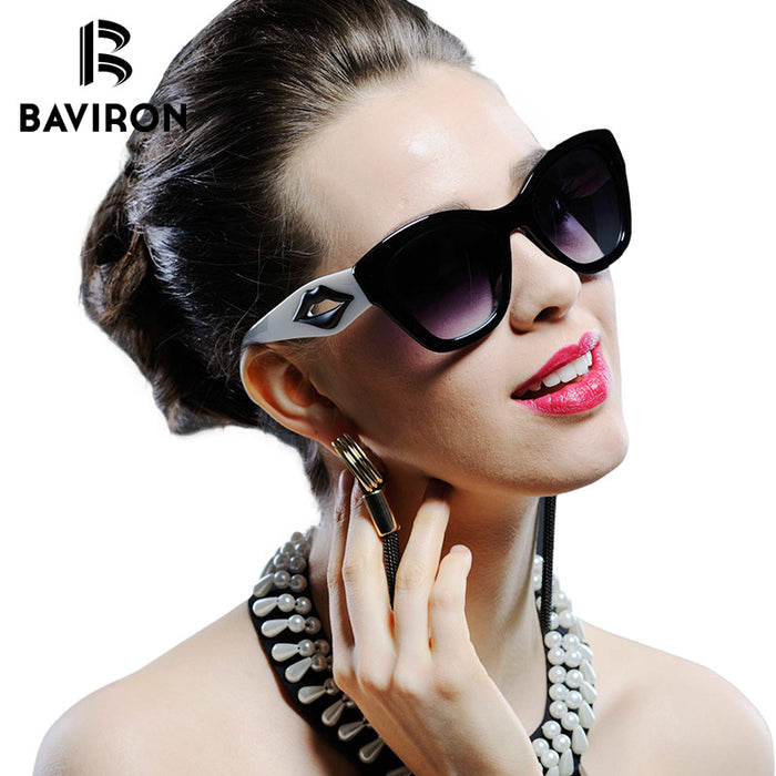 BAVIRON Summer Cat Eye Sunglasses for Women Oversized Vintage Sun Glasses Retro Women Brand Design Outfits Sun Glasses Ladies