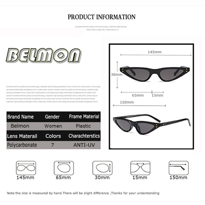 BELMON Sunglasses Women Brand Designer Fashion Sun Glasses Ladies UV400 For Female Shades RS339