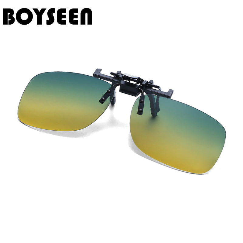 BOYSEEN Polarized Sun Glasses Clip On Sunglasses Online 3 Size Driving Night Vision Lenses Plastic Case, Anti-UVA Shades 203