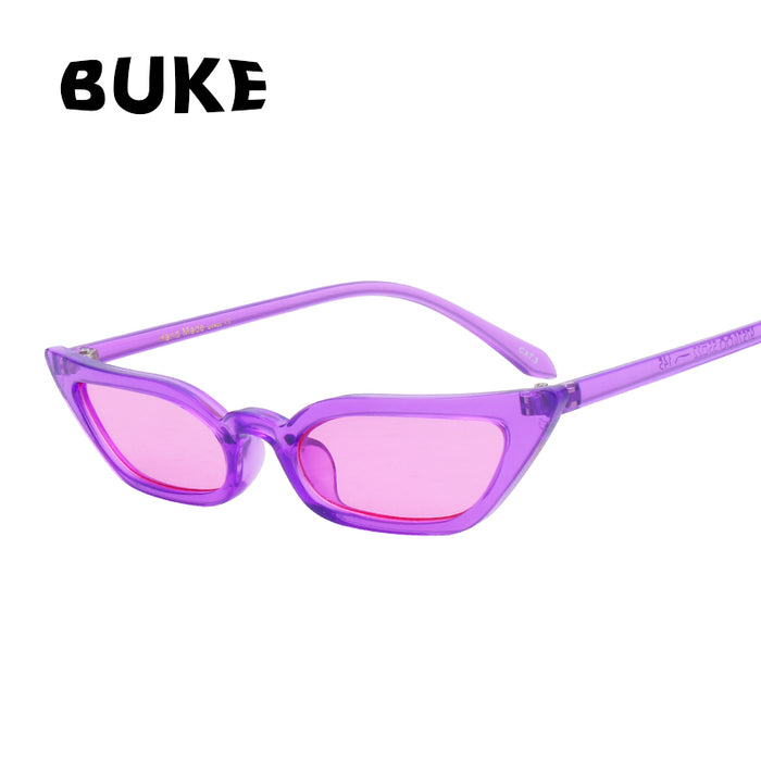 BUKE Sunglasses Women Cat Eye Luxury Brand Designer Sun Glasses Vintage Fashion Red ladies Sunglass UV400 gafas de sol