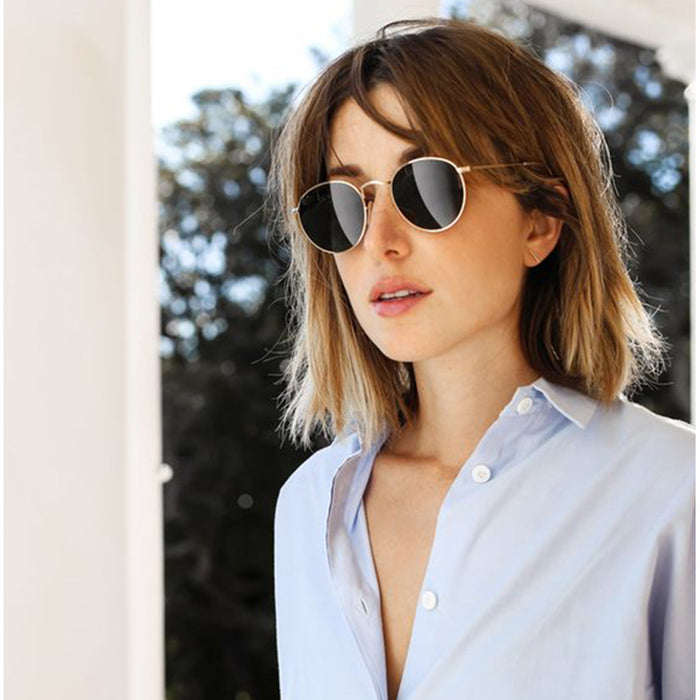 Badtemper Vintage Round Sunglasses For Women Men Brand Designer Metal Frame Mirrored Sun Glasses Retro Female Male Sun Glasses