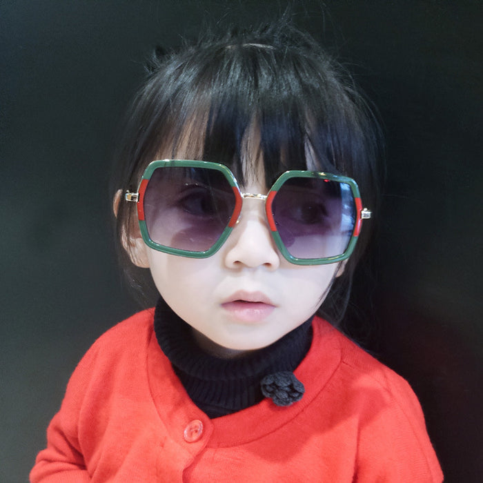 Big Frame 2-9 years Baby Girls&Boys Kids Sunglasses Cute Kids Square Infantil Sun Glasses Children Fashion UV400 Shades N137