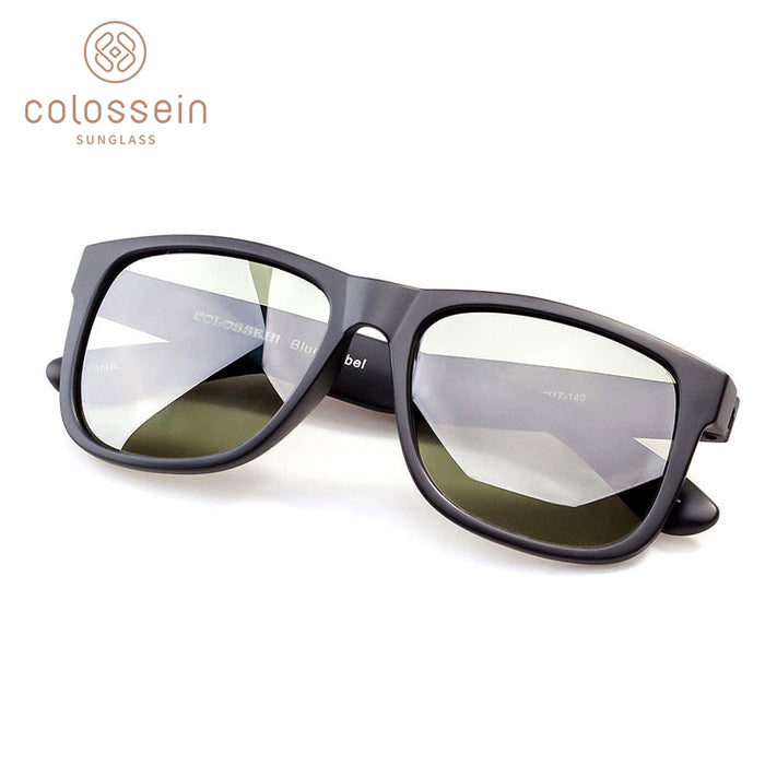 COLOSSEIN Classic Sunglasses Polarized Sun glasses Black Square Frame Men Women Eyewear For Driving and Fishing