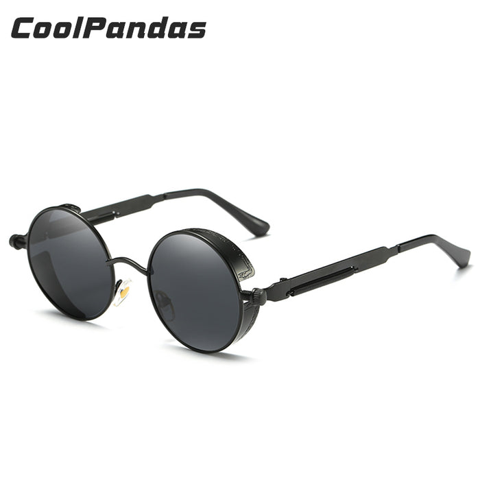 48ec6e7eaa08c COOLPANDAS Round Sun Glasses Men & Women Polarized Sunglasses John Lennon  Granny Sunglasses Gothic Steampunk Vintage
