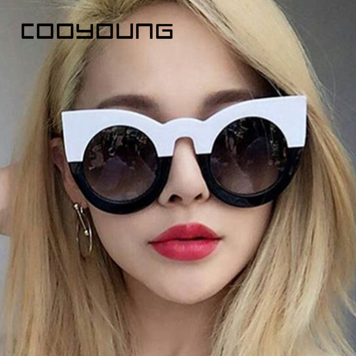 COOYOUNG Fashion Cat Eye Sunglasses Women Brand Designer Vintage Sun Glasses Ladies Sunglass Oculos De Sol Feminino Eyewear