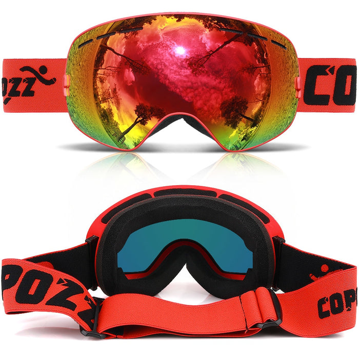 a5d731ccbf3a COPOZZ brand ski goggles double layers UV400 anti-fog big ski mask glasses  skiing men
