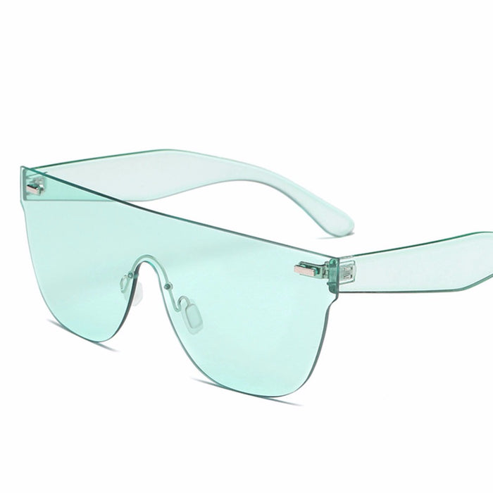 Candy Color Sunglasses Women Luxury Brand Square Blue Clear Sunglasses Ladies Men Driving Eyewear Rivet Sun Glasses #245097