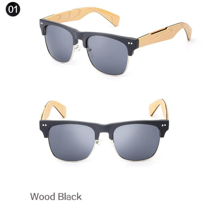Classic Wood Bamboo Sunglasses women men Brand eyewear sun glasses oculos de sol square Sports Glasses feminino gafas de sol