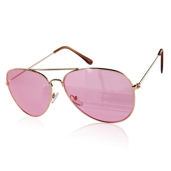 Clear Pink Sunglasses Women Men Ocean Transparent Sun Glasses Candy Color Eyewear Pilot Yellow Lens Glasses