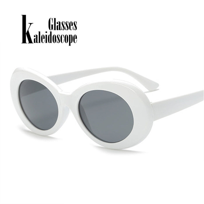 Clout Goggles Sunglasses Kurt Cobain Eyeglasses Women Brand Designer Sunglass Men Retro Round Sun Glasses