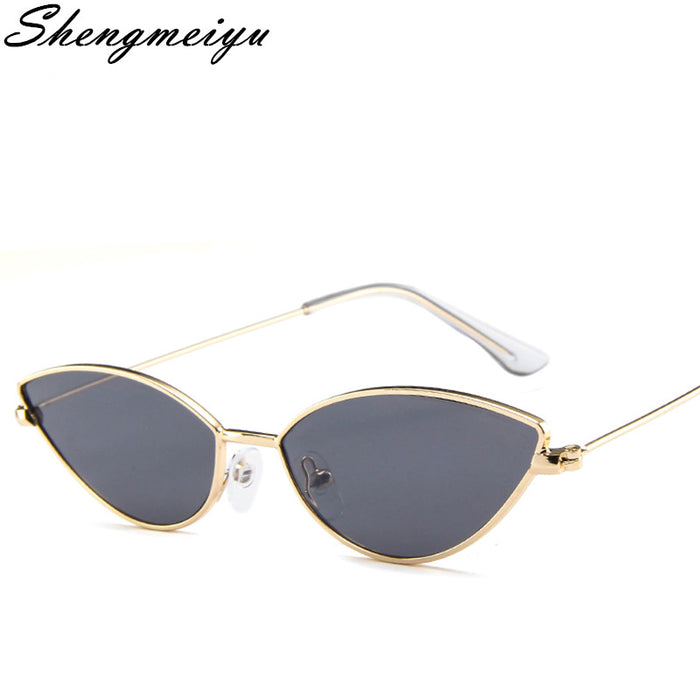 9f79d61e995 Cute Sexy Cat Eye Sunglasses Women 2018 Summer Retro Small Frame Black Red Cat  Eye Sun