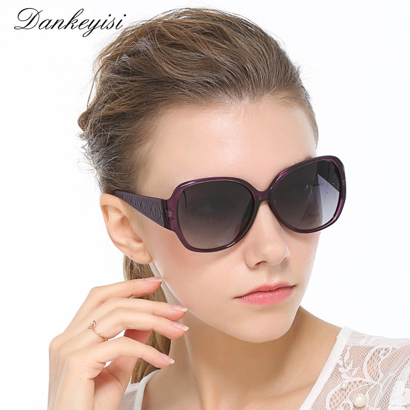 DANKEYISI Vintage Big Frame Sunglasses Women Polarized Sunglasses Men Brand Designer Sun Glasses UV400 Fashion Eyewear