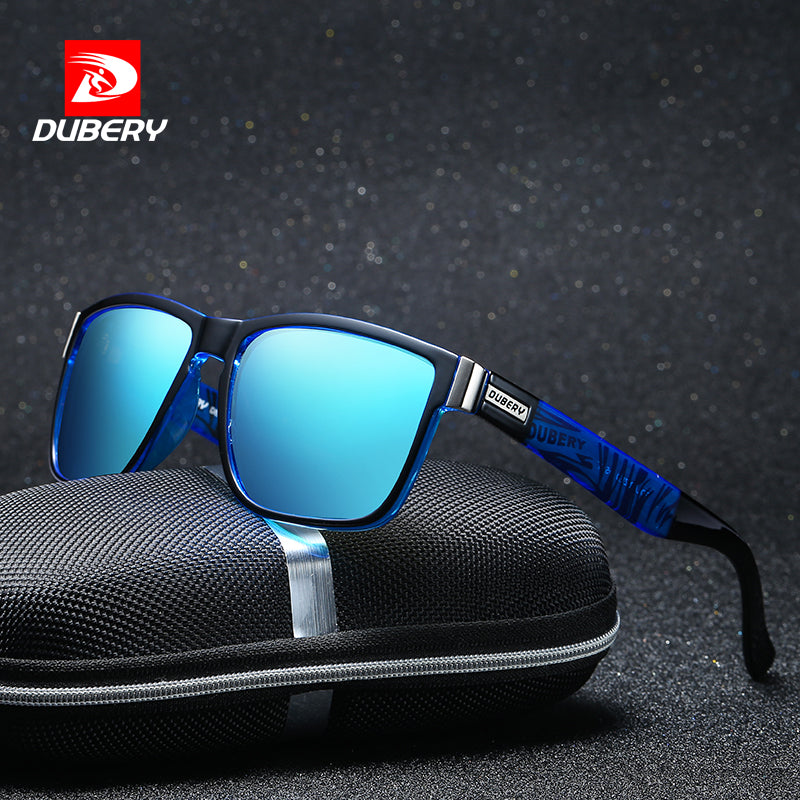 DUBERY Polarized Sunglasses Men's Square Driving Shades Male Sun Glasses For Men Safety Cool Luxury Brand Designer Oculos