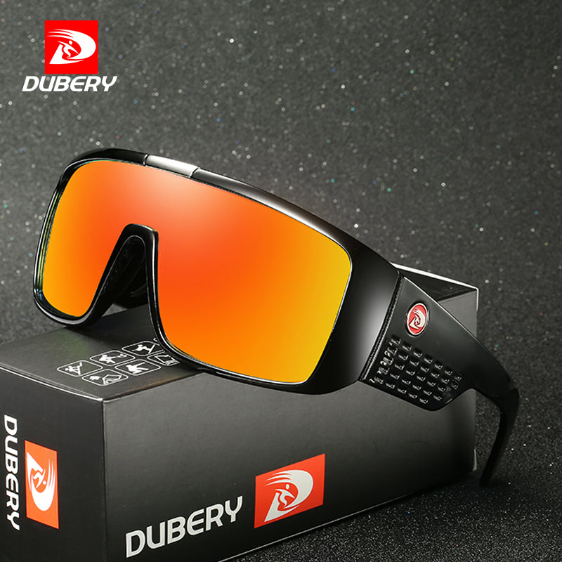 DUBERY UV400 Sunglasses Men's Retro Male Goggle Colorful Sun Glasses For Men Fashion Brand Luxury Mirror Shades Oversized Oculos