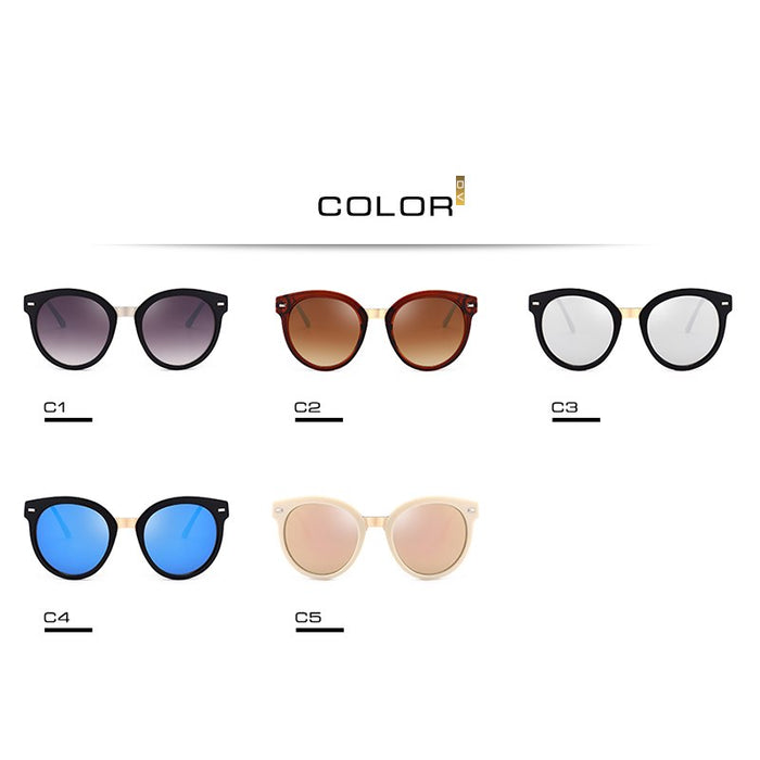 DV Vintage Round Sunglasses Women Brand Designer Cat Eye Sun glasses Female Cute retro round glasses UV400 8520