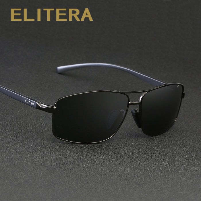 b413c0fa2a3 ELITERA Aluminum Magnesium Brand New Polarized Men s Sunglasses 3 Color Sun  Glasses Men Driving Goggle Eyewear