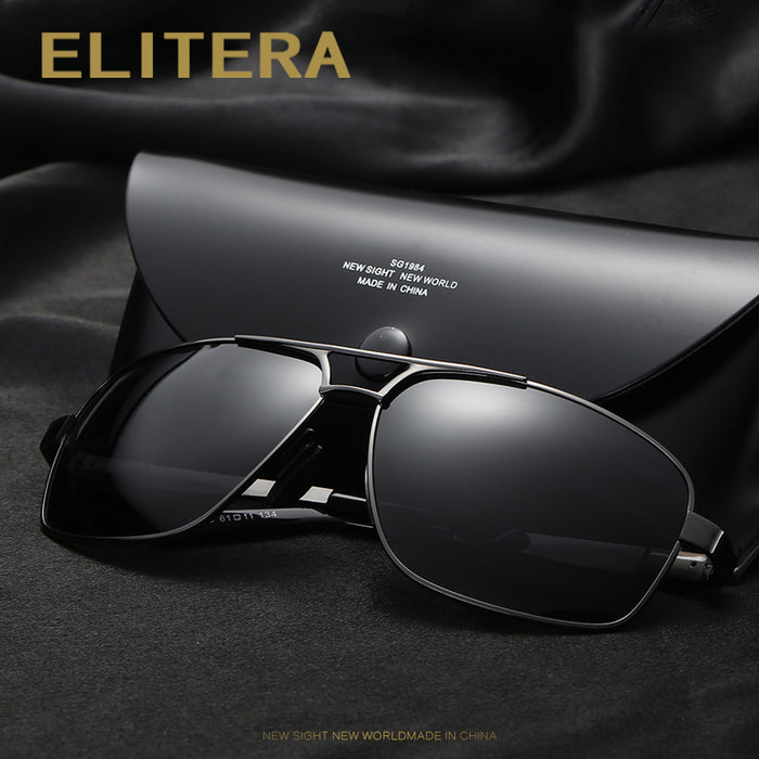 ELITERA Brand Designer Fashion Sunglasses Men Polarized Sun Glasses Mens Sunglasses Brand Designer Oculos De Sol E200
