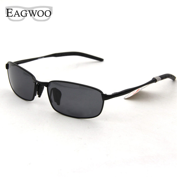 Eagwoo Polarized Sunglasses Men Sun Glasses Silicon Anti Slip Temple Anti Glare De Sol Masculino Gray Green Lenses New 883098