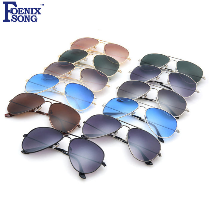 dbcc0ad0f6 FOENIXSONG 2018 Brand New Pilot Sunglasses for Women Men Driving Sun  Glasses Female Pilots Oculos de