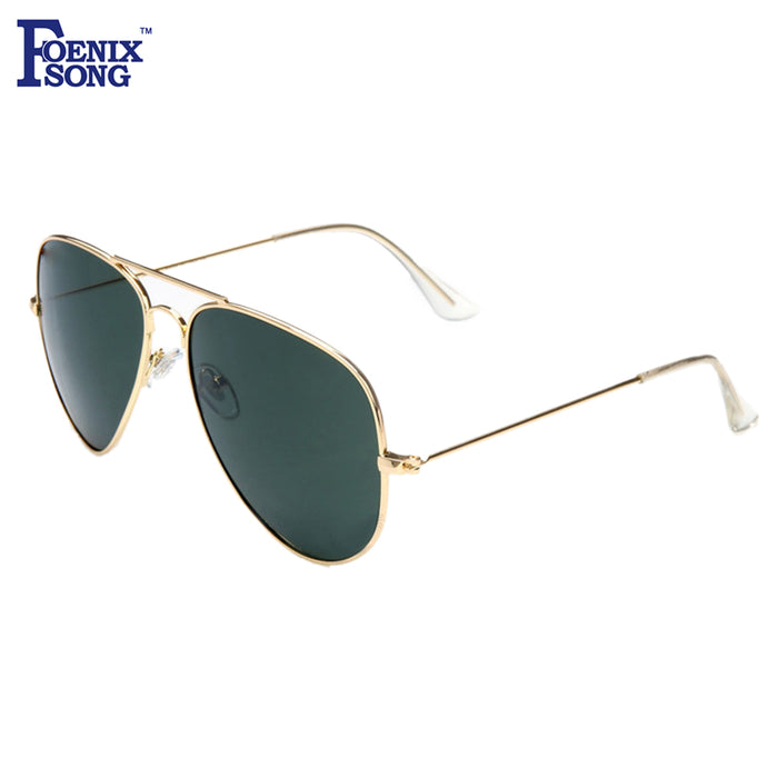 092bff139f FOENIXSONG Brand New Women Pilot Sunglasses Ladies Gold Frame Eyewear Men  Designer Pilots Sun Glasses Retro