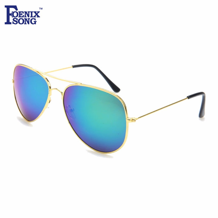 FOENIXSONG Brand New Women Pilot Sunglasses Ladies Gold Frame Eyewear Men Designer Pilots Sun Glasses Retro Gafas Oculos de Sol
