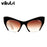 Fashion Brand Designer Cat Eye Sunglasses Women Half Rim Sun Glasses Half Frame Gradient Lens Women Shades UV400 Outdoor Eyewear