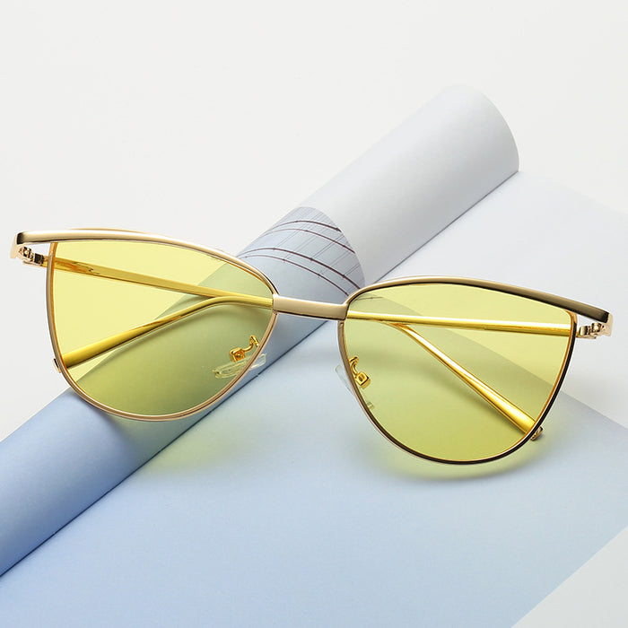 Fashion Classic Women Brand Designer Cateye Sunglasses Female Vintage Lady Sun Glasses Oculo De Sol Shades Summer Style