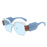 Fashion Oversized Square Clear Lens Sunglasses Women Steampunk Brand Sun Glasses Retro Goggles Ladies Vintage Eyewear