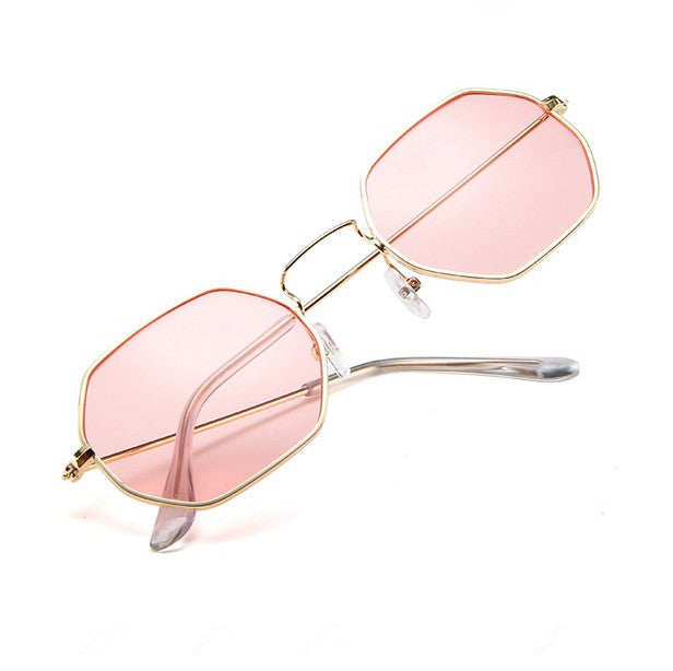01844f9107c Fashion Sunglasses Women Brand Designer Small Frame Polygon Clear Lens  Sunglasses Men Vintage Sun Glasses Hexagon
