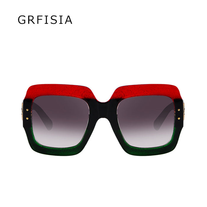 GRFISIA Oversized Square Sunglasses Women GG Brand Designer Vintage Sun Glasses For Women Eyewear UV400 Shades Ladies G061