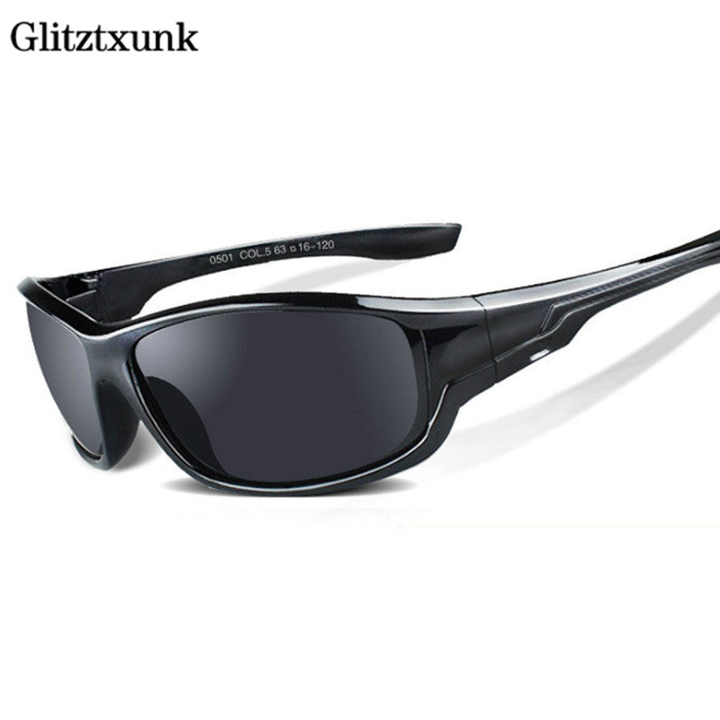 Glitztxunk New Polarized Sun Glasses Men Top Quality Male Sunglasses Brand Designer UV400 Outdoor Sport Eyewear