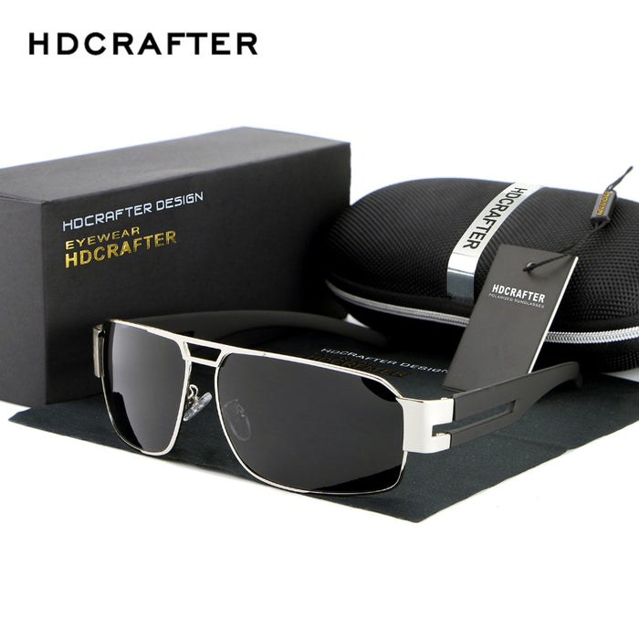HDCRAFTER Brand Unisex Retro Aluminum Sunglasses Polarized Lens Vintage Eyewear Accessories Driving Sun Glasses For Men/Women