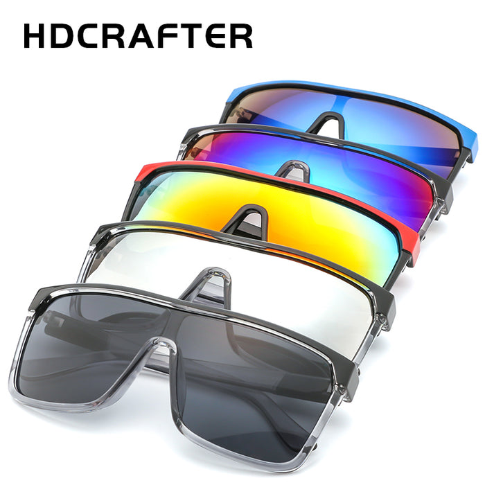 HDCRAFTER Luxury Square Shield Men Sunglasses Driving Male Brand Sun Glasses For Men Cool Shades Mirrored sunglasses men