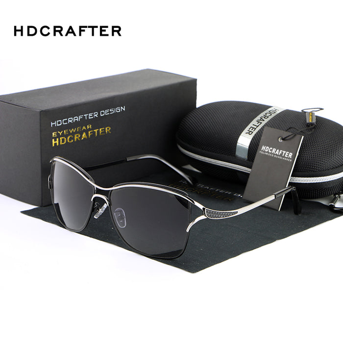 HDCRAFTER high quality Sunglasses women Polarized classic oversized butterfly Gradient vintage Brand Design women sun glasses