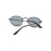 HJYBBSN Pink Round Oval Sunglasses Women men female brand Metal Frames Mirror Lenses Sun Glasses For women Male retro de sol