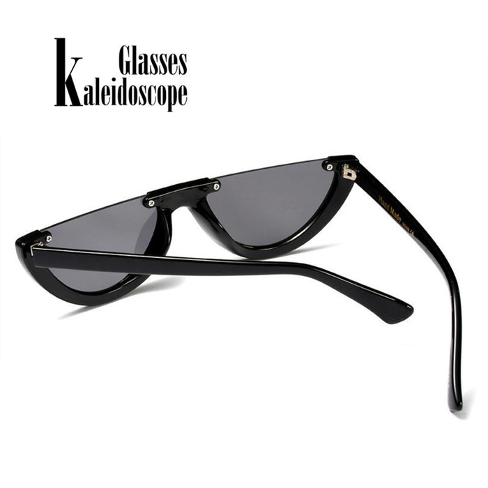 Half Frame Cat Eye Sunglasses for Women Semi-rimless Sunglass Half-rimmed Womens Sun Glasses Goggles UV400