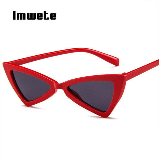 fe2b074f792 Imwete Cat Eye Sunglasses Women Vintage Brand Designer Female Triangle  Butterfly Sun Glasses Retro Small Size