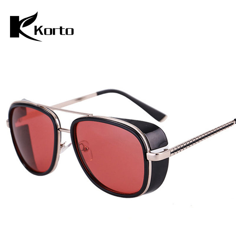 Iron Man 3 Matsuda Steampunk Sunglasses Tony Stark Sun Glasses Men Women Eyewear Fashion Goggles Robert Downey JR Glasses