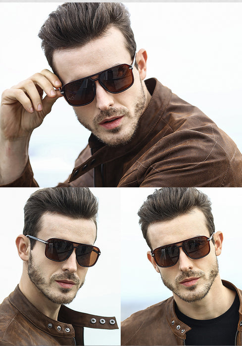 JackJad Fashion Classic Square Aviation Style Polarized Sunglasses Men Driving Brand Design Sun Glasses Oculos De Sol A523