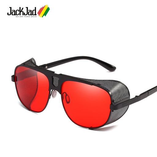 JackJad Fashion Cool Shield Punk Style Side Mesh Sunglasses Vinatge SteamPunk Brand Design Sun Glasses Oculos De Sol 66337