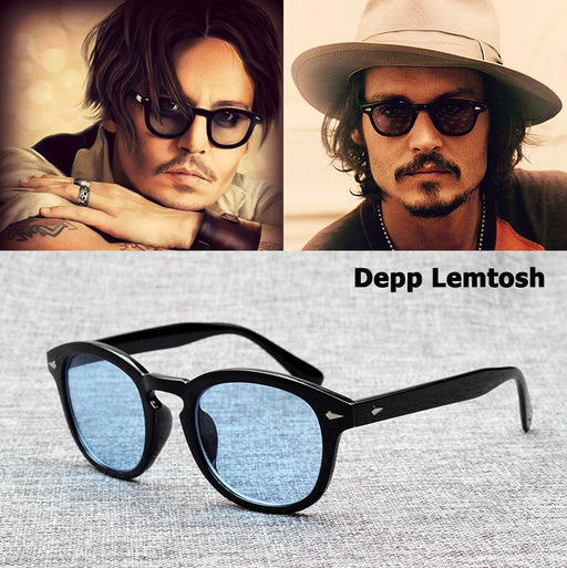 JackJad Fashion Johnny Depp Lemtosh Style Sunglasses Vintage Round Tint Ocean Lens Brand Design Sun Glasses Oculos De Sol